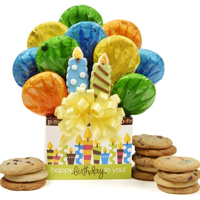 Birthday Box Cookie Bouquet